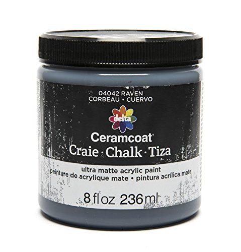 Delta Creative Ceramcoat Ultra Matte Chalk Furniture & Craft Paint in Assorted Colors (8 Ounce), Raven