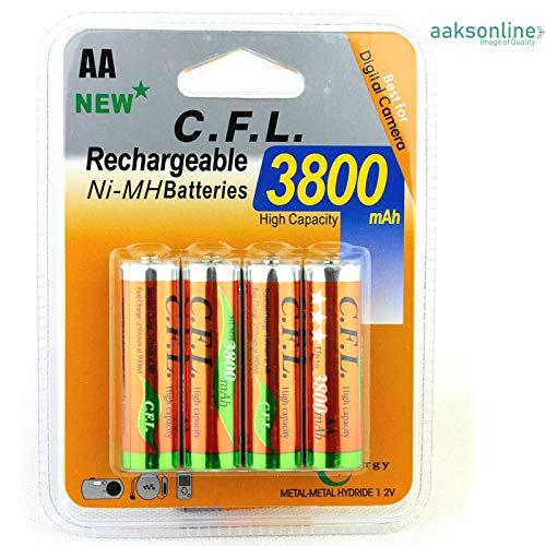 4X AA 3800 mAh AKKU NI-MH Wiederaufladbar Accu Rechargeable Batterien Mignon TOP
