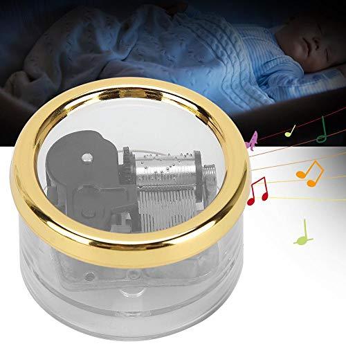 Zerodis Caja de música de Mano, Caja de música de Movimiento mecánico de...