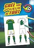 Crée ton joueur de foot: Livre de coloriage spécial Foot : personnalise le maillot de ton joueur de foot, crée le logo de son club et colorie le en ... grand format A4, 62 pages, reliure brochée.