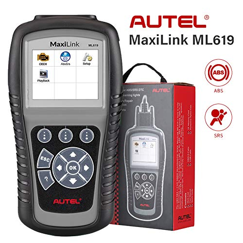 Autel MaxiLink ML619 CAN OBD2 Scanner ABS SRS Code Reader OBDII Scan Tool Turns off Engine Light (MIL)