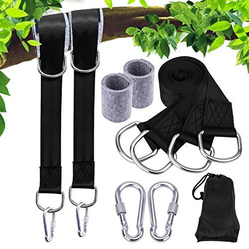 Cuasting Correas para colgar columpios, correas para hamaca al aire libre, ajustable, para columpios de árbol y hamacas