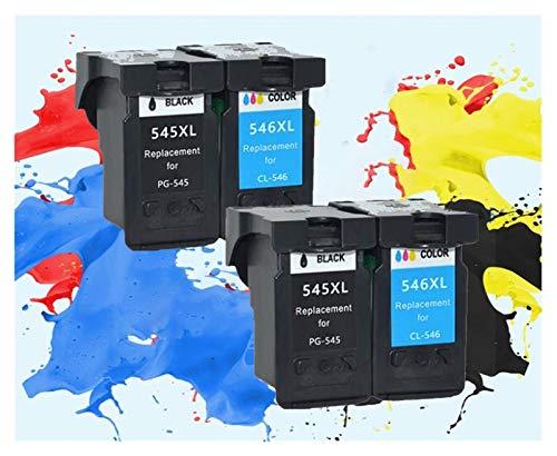 ZITENG CGBH De remanufacturado aplicable 545XL 546XL Cartucho de Tinta for Impresora Canon Pixma IP2850 PG545XL CL546XL MX495 MG2450 MG2550 MG2950 NS28 (Color : 2Black 2Color)