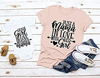 Mommy and Me Shirts, Just A Mama In Love With Her Girl, Mother Daughter Shirts, Mommy and me matching shirts, Mother Daughter Tees