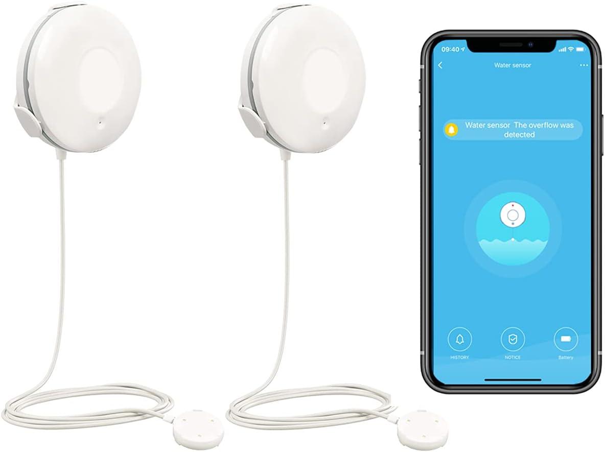 Smart 正規店 Life 無料サンプルOK WiFi Water Leak and Flood Sensor Alarm
