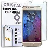 REY Protector de Pantalla para Motorola Moto G5S / Moto G5 S, Cristal Vidrio Templado Premium