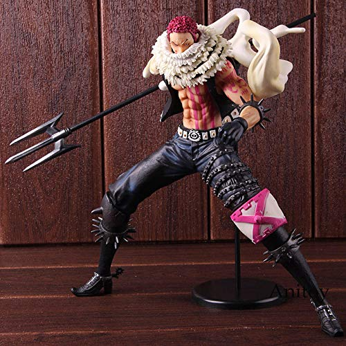 XFHJDM-WJ Estatuilla Retrato de Piratas P.O.P One Piece Charlotte Katakuri One Piece Anime Figuras de acción PVC Modelo de Juguete coleccionable-0301