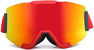 Sunglasses Fashion Accessories Ski Mountaineering Mirror Visor Removable Anti-Wind Outdoor Glasses (Color : Red)