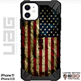 UAG Apple iPhone 11 & iPhone Xr [6.1' Screen] Limited Edition Case Urban Armor Gear by EGO Tactical - Old Glory, Red White Blue Weathered US Flag