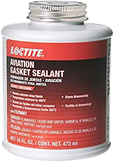 Loctite 1525607 1 Pack Aviation Gasket Sealant 16oz Brush Top Can