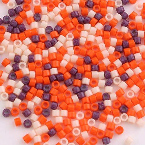 Taidian 5grams 11/0 mezcla de cuentas verdes de cristal de Japón Delica cuentas para joyería g DIY 1,6x1,3mm cuentas espaciadoras Perles-DB Multi 11