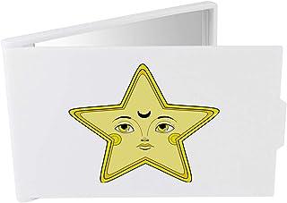 'Yellow Star Face' Compact / Travel / Pocket Makeup Mirror (CM00024344)