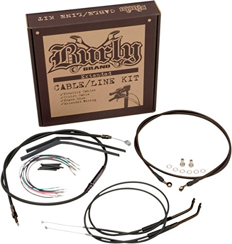 Burly Brand Cable/Brake Line Kit for Ape Hangers for Harley Davidson 2000-06 FXST/B/D models - 16'