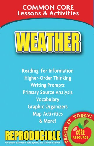Download Weather Common Core Lessons & Activities 0635105950