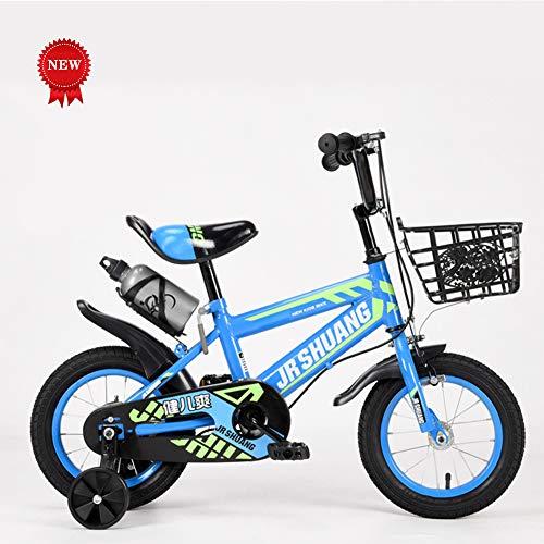 QQBB Kinderfietsen, 12, 14, 16, 18-inch gebalanceerde fietsen, koolstofstalen frames, anti-slip banden, 3-wielige fietsen met Flash Wheels en waterflessen (voor kinderen van 3-10)