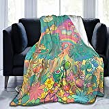 Yo-Shi Blanket Throw Blanket for Bed and Couch 3D Printed Quilted Blankets for Kids and Adults Soft Fluffy Fleece Blanket Bedding