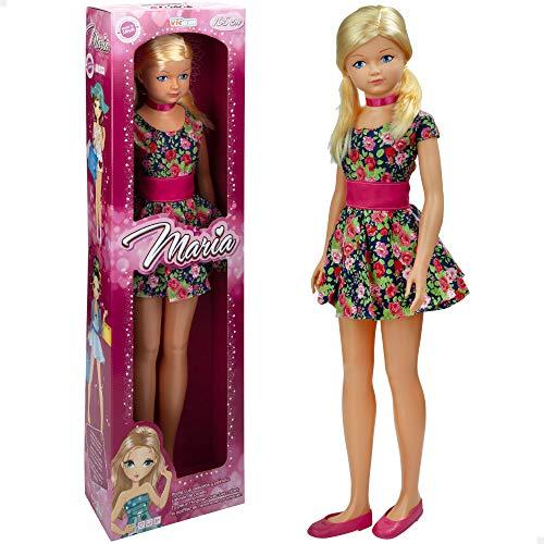 Muñeca grande 105 cm María, Muñecas de juguete, Juguetes niños 3 años, Muñeca grande 105 cm, Juguetes niños, Muñecas para peinar, Muñecas articuladas pelo largo