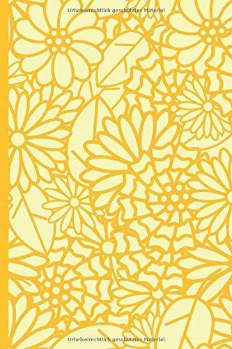 Logbuch: für Passwörter, diskreter Passwort Buch Manager, Organizer, Logbuch mit A - Z Register und attraktivem, gelben Blumen Cover Design zum ... Provider Daten uvm. (ca. DIN A5)