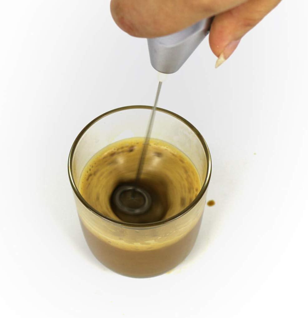 Kaffee-Aufsch/äumer aus Edelstahl f/ür Zuhause und K/üche unknow Elektrischer Milchklopfer mit Doppelkopf