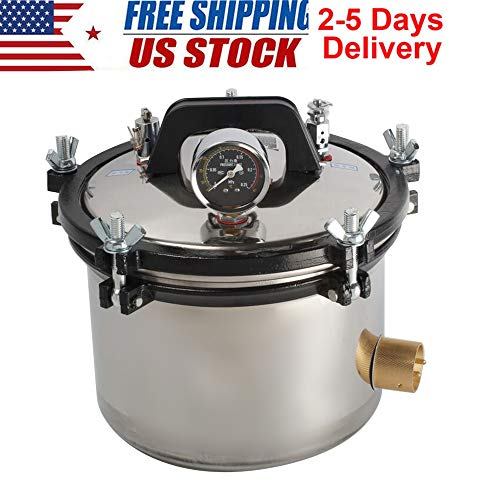 CARESHINE 8L Portable Steam Autoclave Sterilizer Stainless Steel Shell US Shipping 2-5 Days