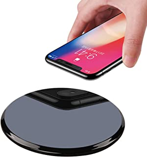 Qi Wireless Charger,WQQ 10W Upgraded Wireless Charging Pad for iPhone Xs/Xs Max/XR,iPhone X,iPhone 8 Plus/8,Samsung Galaxy S10/S9/S9 Plus,S8/S8 Plus,S7 S6 Edge+/Edge,Note 8 7 5,LG G3 (Black)