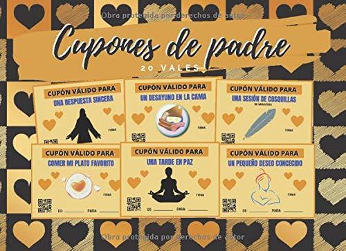CUPONES DE PADRE: LIBRO DE VALES CANJEABLES (DESAYUNO EN CAMA, SESIÓN DE COSQUILLAS, PEQUEÑO DESEO CONCEDIDO...) | ORIGINAL REGALO PARA ÉL | DÍA DEL PADRE | CUMPLEAÑOS | HOMBRE.