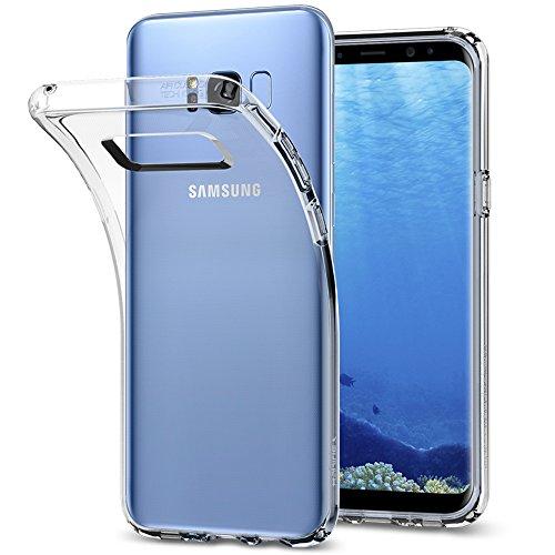 Spigen 571CS21664 Liquid Crystal für Samsung Galaxy S8 Plus Hülle, Transparent TPU Silikon Handyhülle Durchsichtige Schutzhülle Hülle Crystal Clear