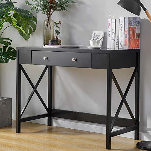 XHONG Computertisch Arbeitstisch Schreibtisch mit 1 Schublade Executive Office Schreibtisch Schreibtisch Office Writing Workstation für Home Office