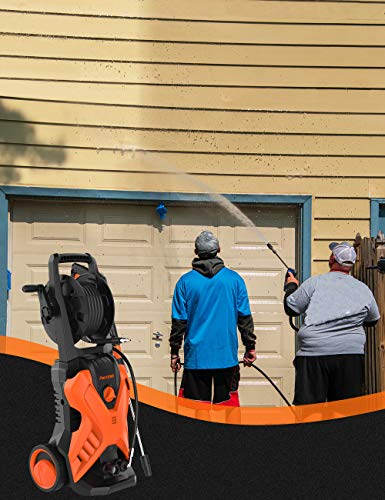 PAXCESS Electric Power Washer P3.2 1.76 GPM Wash Machine with Hose Reel, Orange