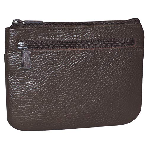 Buxton Women's Large Id Coin/Card Case, Chocolate Brown, One Size