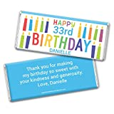 Birthday Personalized Wrappers for Hershey's Chocolate Bars (25 Count)