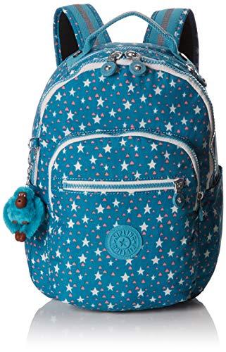 Kipling Seoul GO S Mochila Escolar, 35 cm, 14 litros, (Cool Star Girl)