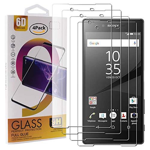 Guran 4 Paquete Cristal Templado Protector de Pantalla para Sony Xperia Z5 Premium Smartphone 9H Dureza Anti-Ara?azos Alta Definicion Transparente Película