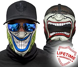 Two-Sided Motorcycle Thermal Balaclava Neck Winter Ski Face Mask Cover Hat