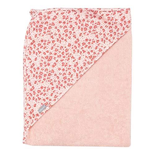 bébé-jou Sortie de bain à capuche léopard 85 x 75 cm drap de bain bébé, rose vif