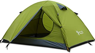 3-4 Season 2 3 Person Lightweight Backpacking Tent Windproof Camping Tent Awning Family Tent Two Doors Double Layer with Aluminum rods for Outdoor Camping Family Beach Hunting Hiking Travel