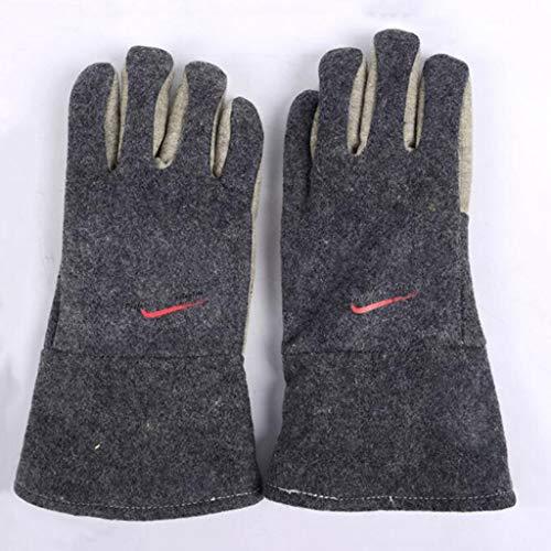 Schweißhandschuhe Hochtemperaturbeständige 300-Grad-Handschuhe, Aramid-Isolierfilz, schnittfest, verschleißfest, 34/45 cm (Size : 34)