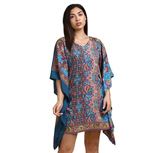 DEEBACO Women's Mini Kaftan Dresses for Women Western Printed Stylish...