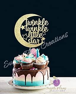 Twinkle Twinkle Little Star Cake Topper Half Moon