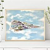 XCJX (40X60CM sin Marco) DIY 5D Diamante Dibujo Papel Origami avión Pared Sala de Estar decoración del hogar Juguetes y Juegos/Manualidades/Manualidades/Pintura por número
