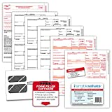 1099 Misc Tax Forms 2019 - Tangible Values 4-Part Kit with Envelopes - Software Download Included, 25 Pack