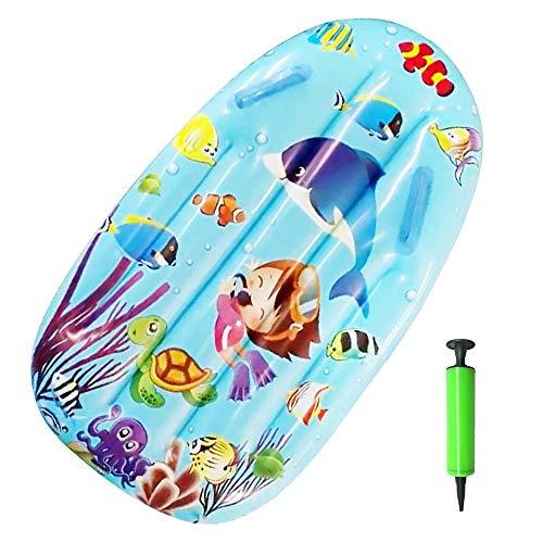 Elikliv Tabla de surf inflable diapositivas para niños Piscina flotante Juguetes ayuda de natación para niños al aire libre seguro mar surf tabla con bomba