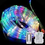 Luci Stringa Luminosa, Tubo LED RGB Multicolore Esterno Impermeabile IP67 33ft 100 LED Luci da fata con Telecomando e Funzione Timer per Natale, giardino, matrimonio, feste