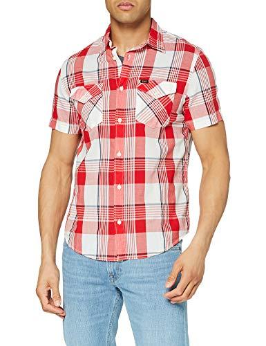 Lee Regular Shirt Camisa, Core Red,...