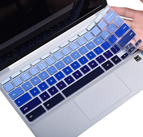 """Keyboard Cover for HP 11.6"""" Chromebook, HP Chromebook x360 11.6 inch, HP Chromebook 11 G2 / G3 / G4 / G5 / G6 EE / G7 EE, HP 11.6 Inch Chromebook Protector Skin, Gradual Blue"""