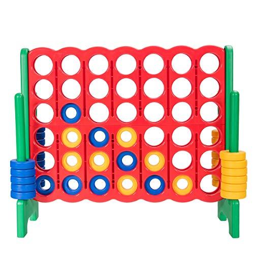 DREAMADE Forza Quattro Gigante per Bambini, Gioco Forza 4 Mega Gigante per Bambini, Gioco Forza 4 per Casa e Giardino, Gioco da Tavolo Forza 4 per Bambini, 120 x 42 x 104 cm (Verde)