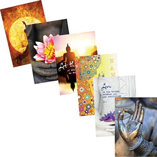 Buddha-Karten-Set: 6 verschiedene Postkarten