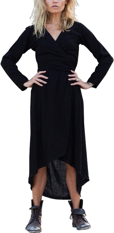 SHENBOLEN Women Evening Cocktail Dress Sexy Crochet Open Front Long Sleeve Dresses
