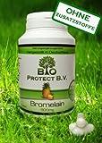 Bromelain 500 mg (2.000 F.I.P.) 120 Kapseln - Vegan ohne Fll- und Zusatzstoffe - 2000 GDU/g - Verdauungsenzym - Bio Protect - Ananas Enzym OHNE ZUSATZSTOFFE!