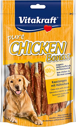 Vitakraft Chicken Bonas Kaustangen für Hund, Geschmak Huhn, 80g